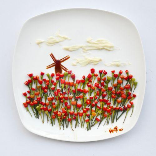 Jedlé obrazy od výtvarnice RED